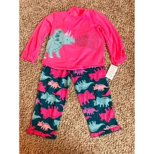 Toddler pink Dino pajamas